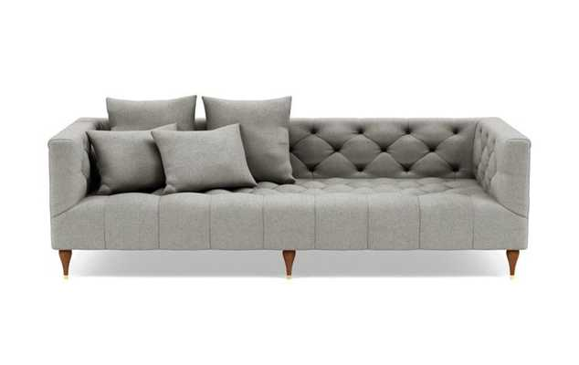 Ms. Chesterfield Sofa in Ore Heavy Coth Fabric with Brass plated legs - Interior Define