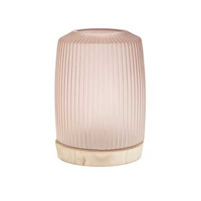 Crystine Tall Glass and Wood Vase - Mercer Collection