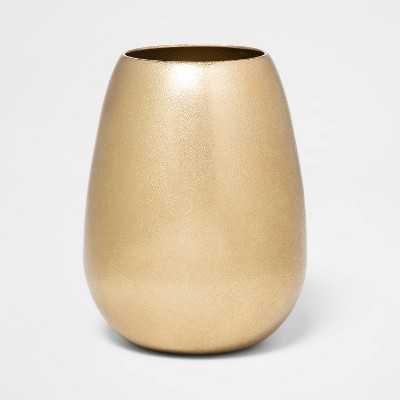 "6.1"" x 4.1"" Brass Hurricane Vase Gold - Threshold™ - Target"