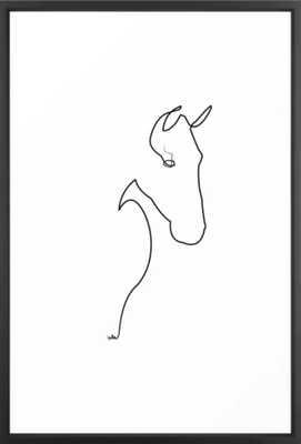 Horse line Framed Art Print - Society6