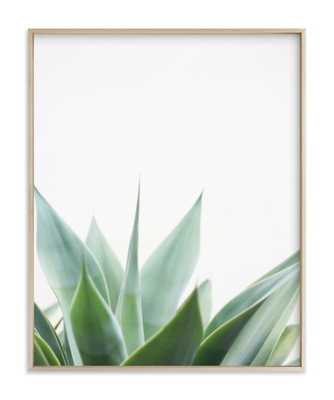 balboa park w/ metal frame, with a matte brass finish - Minted
