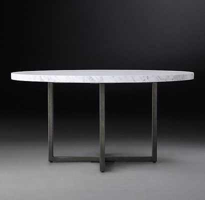 TORANO MARBLE ROUND DINING TABLE - RH