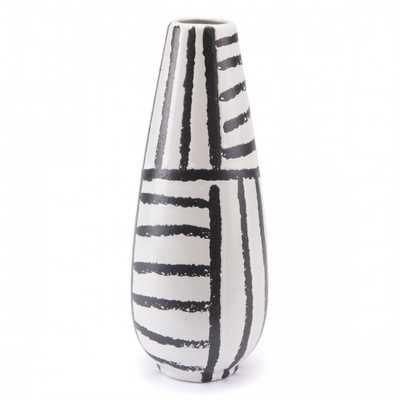 Croma Md Vase Black & White - Zuri Studios