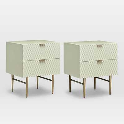 Audrey Nightstand, Parchment (White Glove Delivery) Set of 2 - West Elm