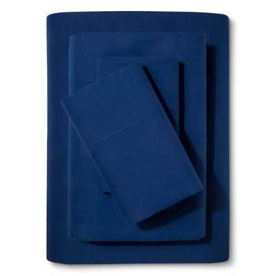 Solid Cotton Sheet Set - Pillowfort™ Navy Twin - Target