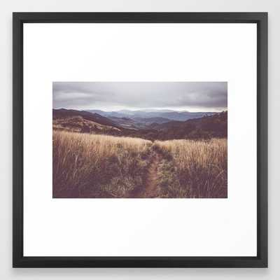 """Bieszczady Mountains - Landscape and Nature Photography Framed Art Print - 22"""" x 22"""" - Vector Black Frame - Society6"""