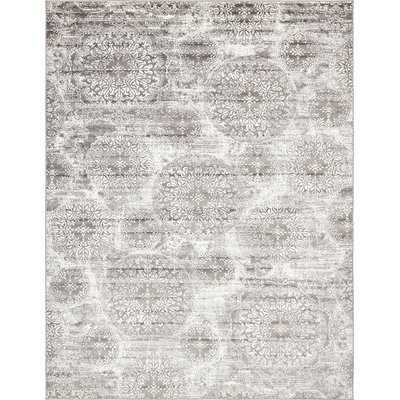 Brandt Gray Area Rug - 9' x 12' - Wayfair