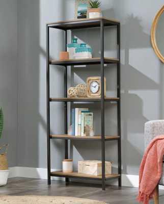 """Ermont 56.75"""" H x 23.5"""" W Metal Etagere Bookcase - Wayfair"""