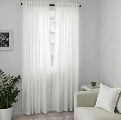 ANNALOUISA Curtains - White - 1 pair - Ikea