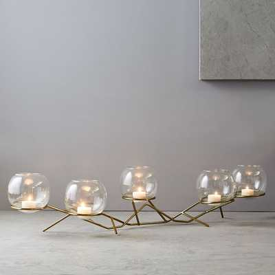 Brass + Glass Globe Centerpiece - West Elm