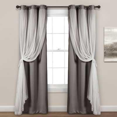Busselton Sheer Solid Blackout Thermal Grommet Curtain Panels (Set of 2) - Wayfair
