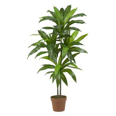 Real Touch 48 in. H Green Dracaena Silk Plant - Home Depot