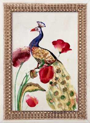 Blue Gold Peacock - Artfully Walls