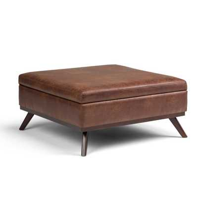 Owen Coffee Table Ottoman with Storage - Hayneedle