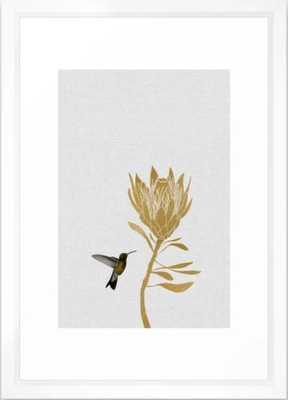 Hummingbird & Flower I Framed Art Print 15 x 21 - Society6