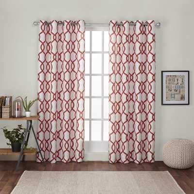 Plant City Geometric Light Filtering Grommet Curtain Panels - AllModern