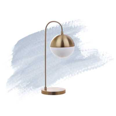 "Foundstone Annabel 21"" Desk Lamp in Gold - Wayfair"