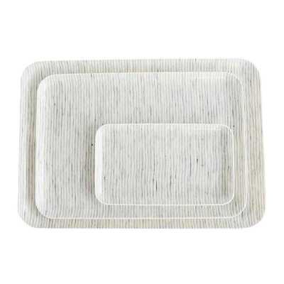 THIN STRIPE LINEN LARGE TRAY - McGee & Co.