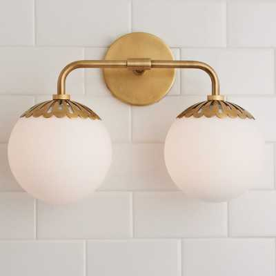 DEWDROP GLOBE VANITY LIGHT - 2 LIGHT - Shades of Light