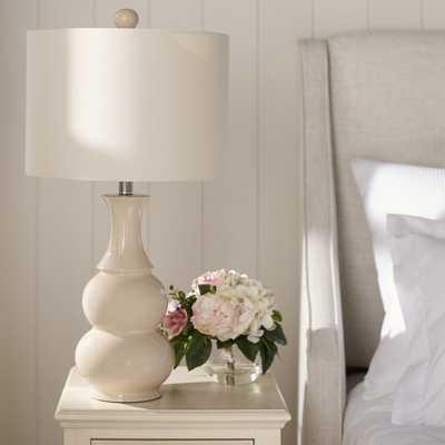 """Miltiades 26.5"""" Table Lamp by Mercury Row - Ivory - Wayfair"""