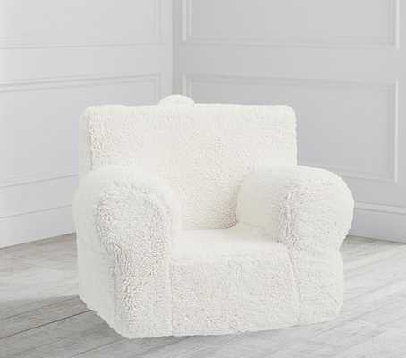 Cream Sherpa Anywhere Chair® Regular - Pottery Barn