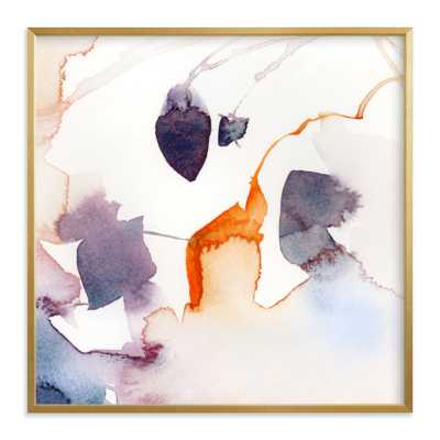 Watercolor Abstract Flora Series : Fall 1 gold frame - Minted