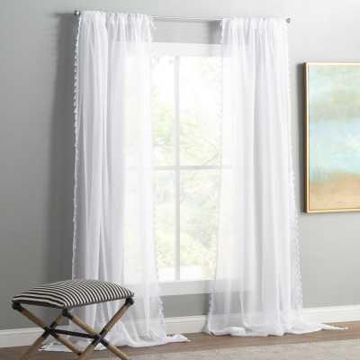 Solid Sheer Rod Pocket Curtain Panels -Set of 2 - jossandmain.com