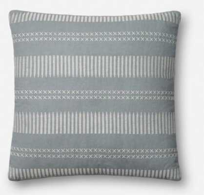 PILLOWS - LT. BLUE 18X18, with down insert - Loma Threads