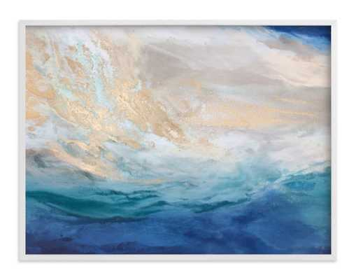 escaping elba - 40x30, white wood frame - Minted