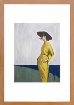 "1993 Framed Art Print- Conservation Pecan frame; 15"" x 21"" - Society6"