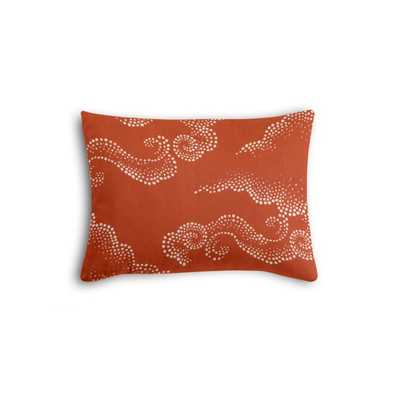 Boudoir Pillow  Cloudburst - Persimmon w/Poly Insert - Loom Decor
