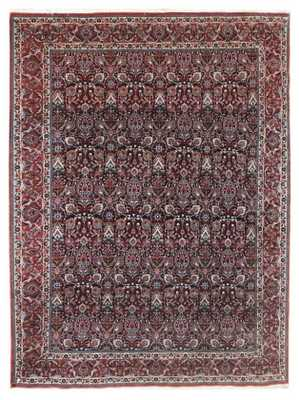 PERSIAN BIJAR HAND-KNOTTED WOOL RED INDOOR AREA RUG - Perigold