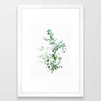 "Botanical Framed Art Print White Frame - 15""x21"" - Society6"