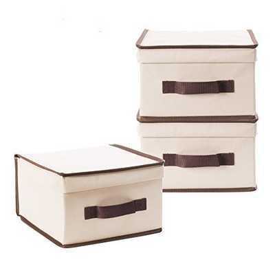 Storage Natural Canvas Box - Wayfair