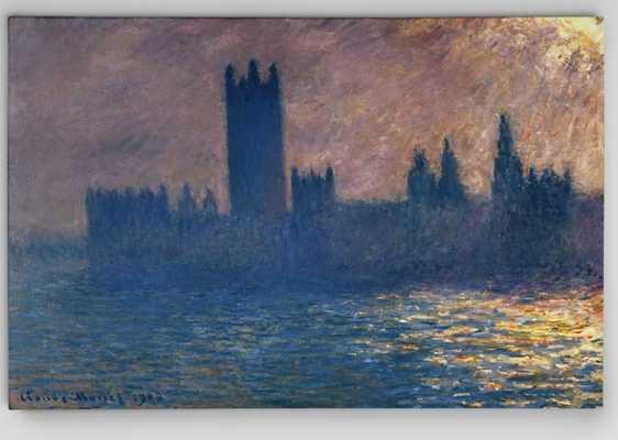 Houses of Parliament by Claude Monet Print - Wayfair