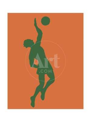 """Silhouette of a Basketball Player, 18""""x24"""" - art.com"""