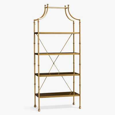 Maison Bookshelf, Gold, In-Home - Pottery Barn Teen