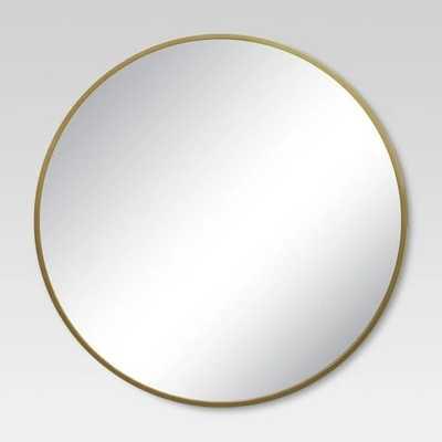 Round Decorative Wall Mirror Brass - Target