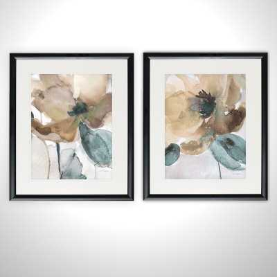 'Watercolor Poppy' - 2 Piece Picture Frame Graphic Art Print Set on Paper - Wayfair