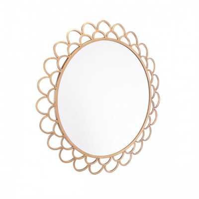 Rani Circular Mirror Md Gold - Zuri Studios