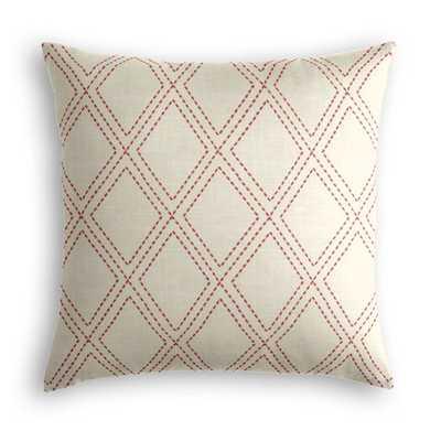 Diamonds Are Forever - Crimson Pillow - Loom Decor