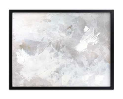 Melody in White- Rich Black Wood Frame - Minted