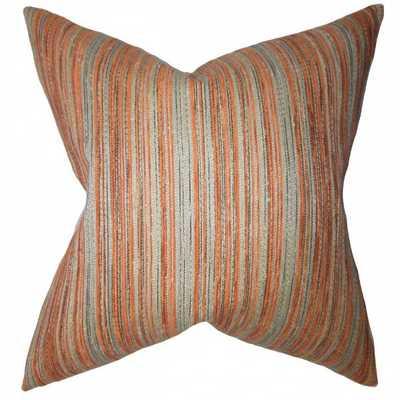 "Bartram Stripes Pillow Orange - 20""x20""- poly insert - Linen & Seam"