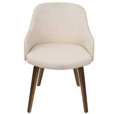 Brighton Mid-Century Modern Upholstered Dining Chair - Wayfair