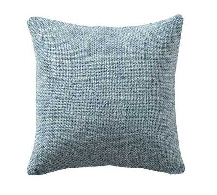 FAYE TEXTURED LINEN PILLOW COVER - Chambray - Pottery Barn