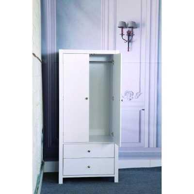 Astaire Commodious Wardrobe Armoire, White - Wayfair