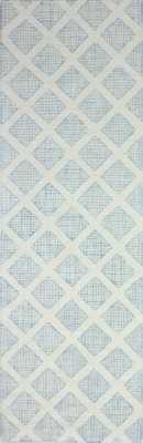 Kory Hand-Tufted Wool Ivory/Blue Area Rug - Wayfair