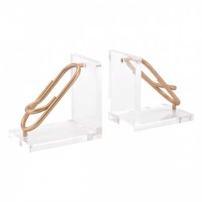 Clips Bookends Gold - Zuri Studios