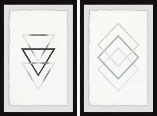 'Sharp Edges Diptych' 2 Piece Framed Graphic Art Print Set - Wayfair
