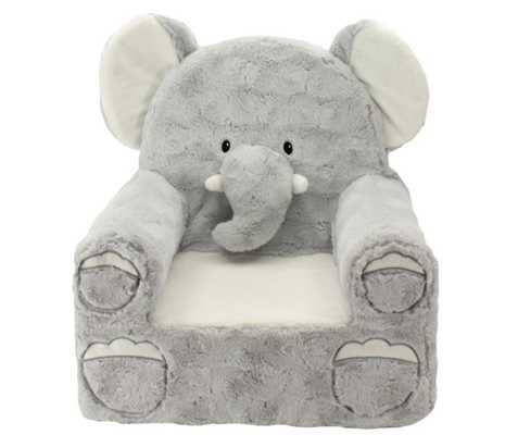Sweet Seats® Plush Elephant Chair in Grey - Buy Buy Baby